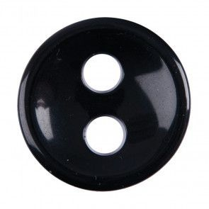 Size 27mm, 2 Hole (Large Holes), Black, Pack of 2