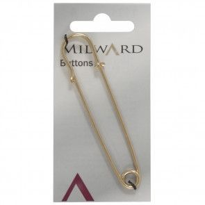 Size: 76mm, Large Saftey Pin, Gold