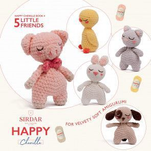Sirdar Happy Chenille Book 4 - Little Friends