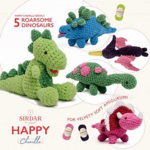 Sirdar Happy Chenille Book 5 - Dinosaurs