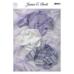 Cardigans and Sweater in James C. Brett DK (JB001)