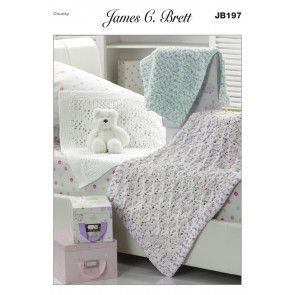Blankets in James C. Brett Flutterby Chunky (JB197)