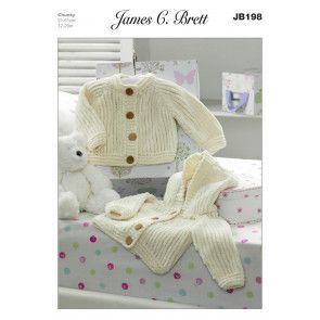 Jackets in James C. Brett Flutterby Chunky (JB198)
