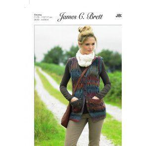 Waistcoat in James C. Brett Marble Chunky (JB337)