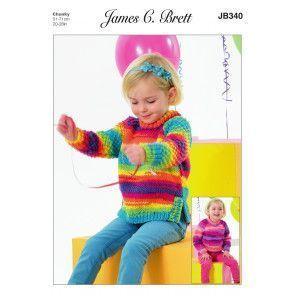 Sweater and Tunic in James C. Brett Party Time Chunky (JB340)