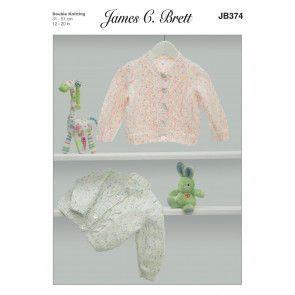 Cardigans in James C Brett Baby Twinkle Prints DK (JB371)