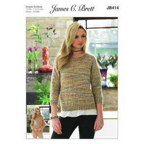 Sweaters in James C. Brett Stonewah DK (JB414)
