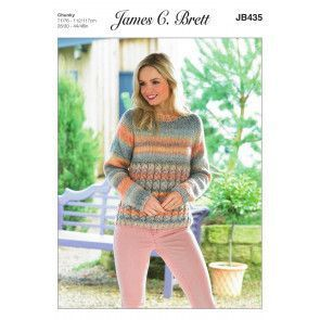 Sweater in James C. Brett Marble Chunky (JB435)