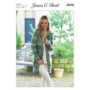 Jacket in James C. Brett Marble Chunky (JB438)