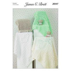 Blankets in James C. Brett Flutterby Chunky (JB447)