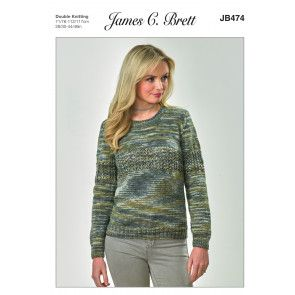 Sweater in James C. Brett Stonewash DK (JB474)