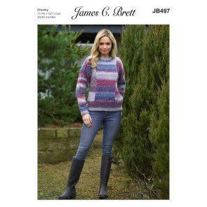 Sweater in James C. Brett Marble Chunky (JB497)