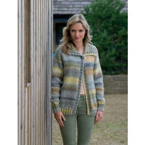 Cardigan in James C Brett Marble Chunky (JB554)