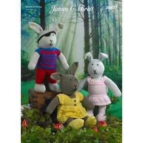 Rabbits in James C Brett Crafter DK (JB677)