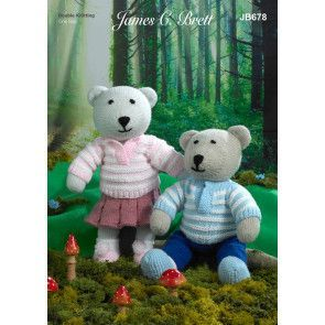 Bears in James C Brett Crafter DK (JB678)