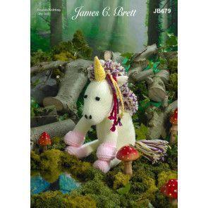 Unicorn in James C Brett Crafter DK (JB679)