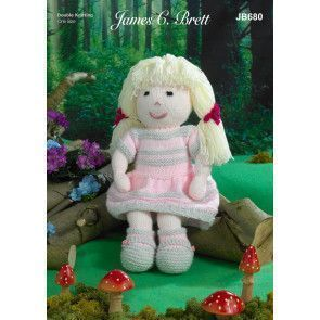 Doll in James C Brett Crafter DK (JB680)
