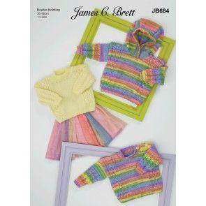 Sweaters in James C Brett Baby DK and Baby Twinkle Prints DK (JB684)