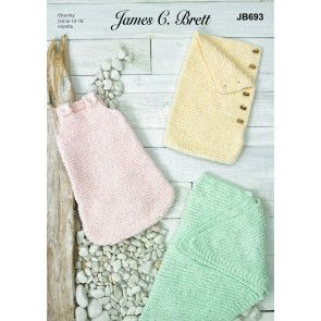 Sleeping Bags and Shawl in James C Brett Baby Velvet Chunky (JB693)