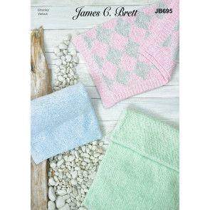 Blankets in James C Brett Baby Velvet Chunky (JB695)