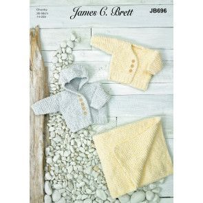 Jackets and Blankets in James C Brett Baby Velvet Chunky (JB696)