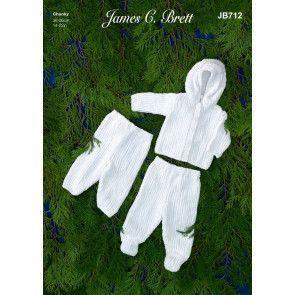 Jacket, Trousers and Leggings in James C.Brett Flutterby Chunky (JB712)