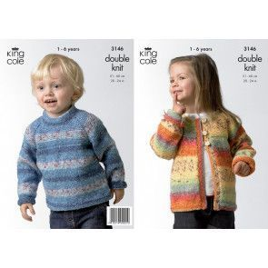 Sweater and Cardigan in King Cole Splash DK (3146)