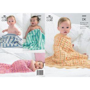 Blankets in King Cole Splash DK (3422)