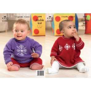 Sweater and Dress in King Cole Comfort Baby DK (3498)