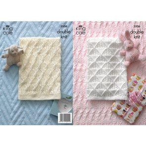 Baby Blankets in King Cole Comfort Baby DK (3506)