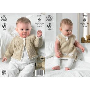 Dress and Cardigan in King Cole Baby Comfort Baby DK (3736)