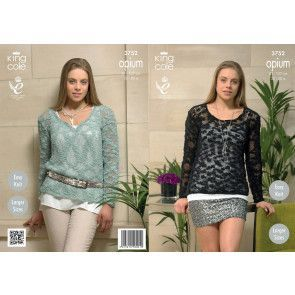 Sweaters in King Cole Opium (3752)
