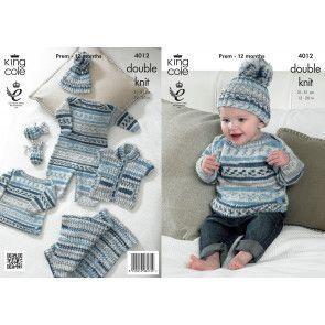 Baby Set in King Cole Cherish DK (4012)