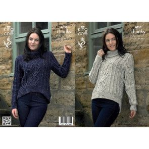 Sweaters in King Cole Chunky Tweed (4035)