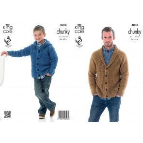 Cardigan and Hoodie in King Cole Big Value Chunky (4088)