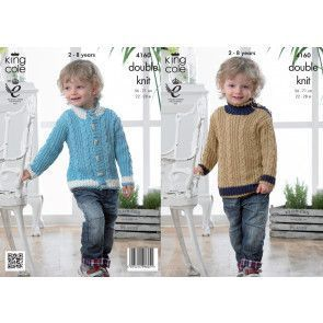 Jacket and Sweater in King Cole Cottonsoft DK (4160)