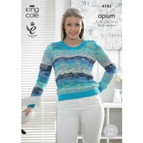 Sweater and Cardigan in King Cole Opium Palette and Bamboo Cotton DK (4183)
