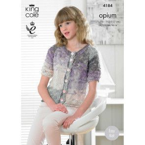 Cardigans in King Cole Opium Palette (4184)