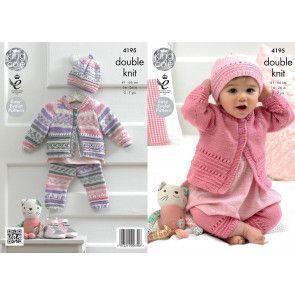 Coat, Hat and Leggings in King Cole Cherished DK and Cherish DK (4195)