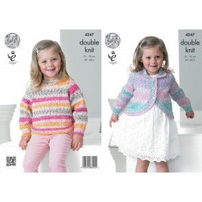 Sweater and Cardigan in King Cole Splash DK (4247)