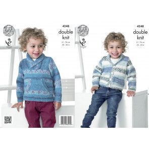 Sweater and Cardigan in King Cole Splash DK (4248)