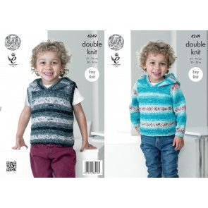 Sweater and Slipover in King Cole Splash DK (4249)