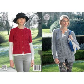 Cardigans in King Cole New Magnum Chunky (4280)