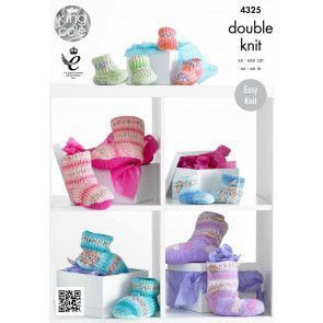 Hug Slippers in King Cole Drifter for Baby DK (4325)