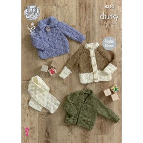 Sweater, Cardigans and Scarf in King Cole New Magnum Chunky (4350)