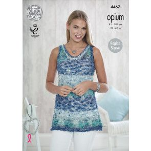 Sweater and Top in King Cole Opium and Opium Palette (4467)
