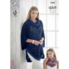 Poncho, Cape and Snood in King Cole Opium, Opium Palette and Cottonsoft DK (4468)