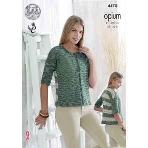 Sweater and Cardigan in King Cole Opium and Opium Palette (4470)