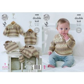 Sweater, Slipovers and Hat in King Cole Drifter for Baby DK (4488)