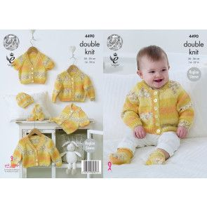 Raglan Cardigans, Hat and Socks in King Cole Drifter for Baby DK (4490)
